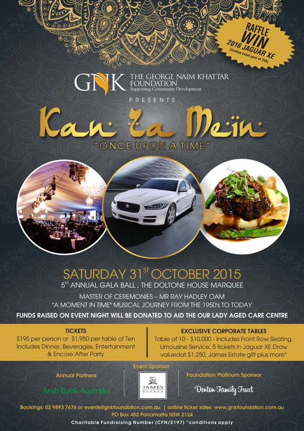 GNK Gala Ball Function Details 2015
