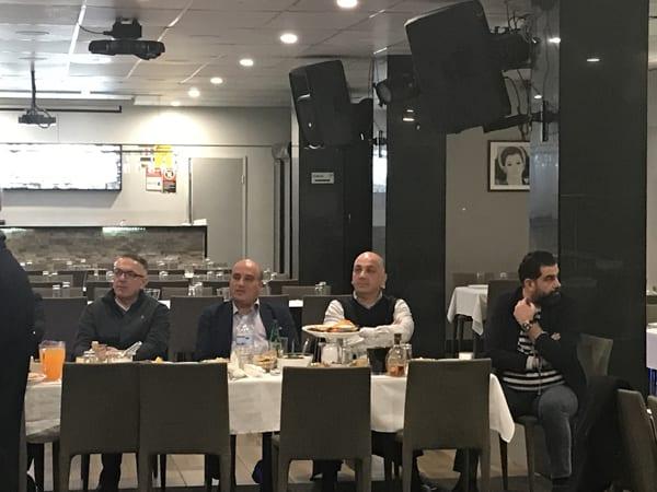 من اليمين: شارلي ابراهيم وريمي وهبة وطوني أيوب وريمون حنا واميل شاهين