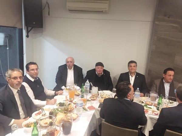 جورج وآرثر خوري وانطوني هاشم ومارون  وشربل تادروس والزميل سام نان